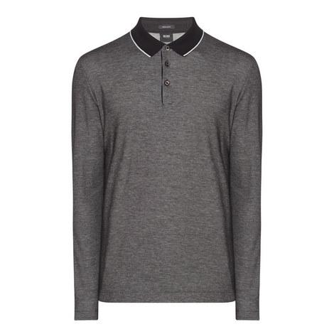Pearl Contrast Collar Polo Shirt, ${color}