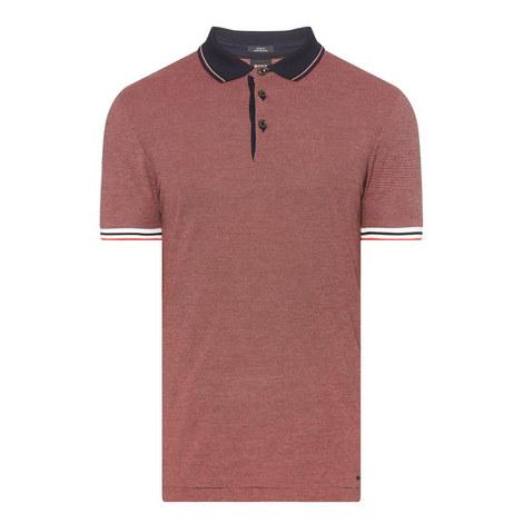 Penrose 16 Micro-Stripe Polo Shirt , ${color}