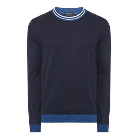 Talvino Striped Neck Sweater, ${color}