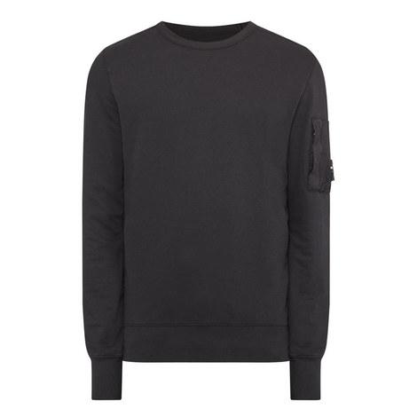 Faded Crew Neck Sweatshirt, ${color}