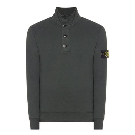 Half Button-Down Sweater, ${color}