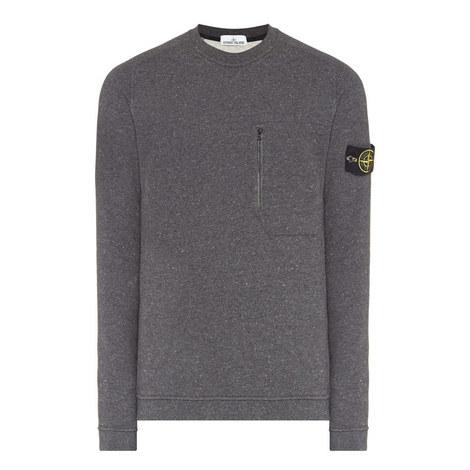 Flecked Crew Neck Sweatshirt, ${color}
