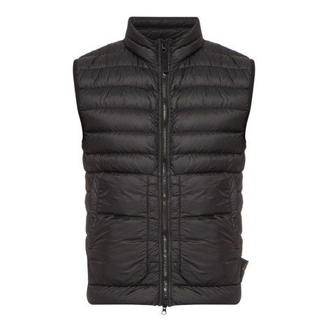 Zip-Through Quilted Gilet, ${color}