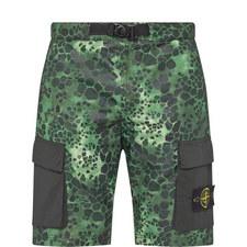 Alligator Print Shorts