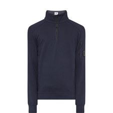 Lens Detailed Zipped Sweatshirt