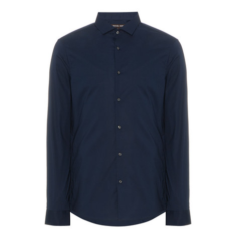 Slim Fit Poplin Shirt, ${color}