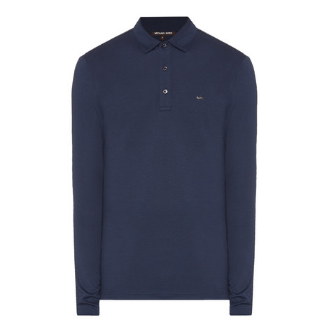 Long-Sleeved Polo Shirt, ${color}