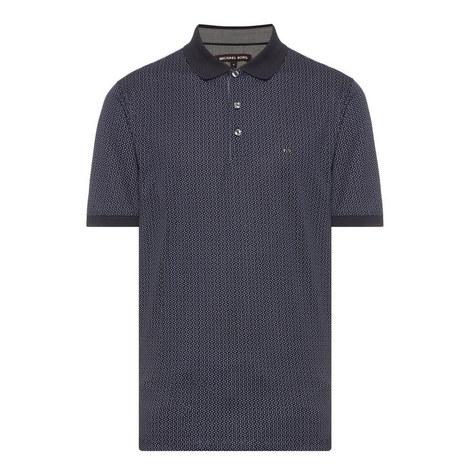 Diamond Print Polo Shirt, ${color}