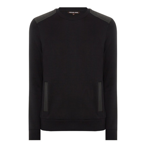 Contrast Trim Jersey Sweatshirt, ${color}