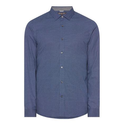 Printed Slim Fit Shirt, ${color}