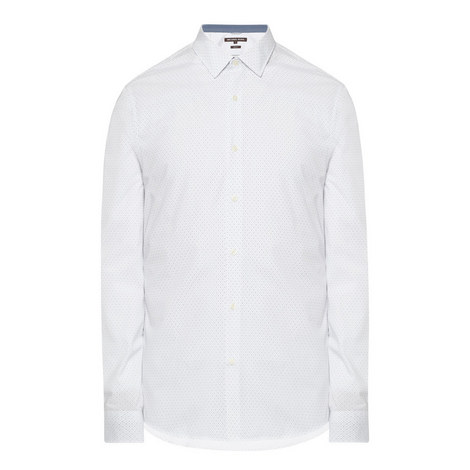 pin-dot Slim Fit Shirt, ${color}