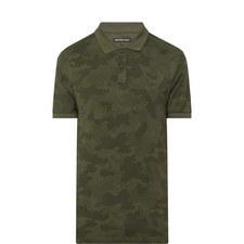 Camouflage Print Polo Shirt