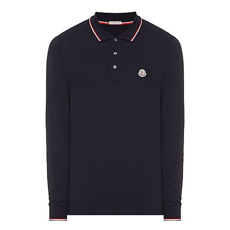 Stripe Tipped Polo Shirt, ${color}