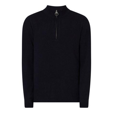 Holden Half-Zip Wool Sweater, ${color}