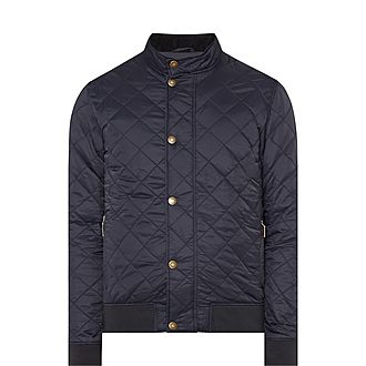 Moss Quilted Bomber Jacket