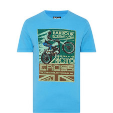 Motorcycle Print T-Shirt