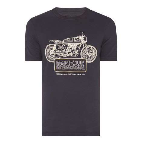 Charge Motorcycle Print T-Shirt , ${color}