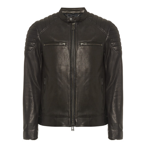 Stoneham Short Leather Jacket, ${color}
