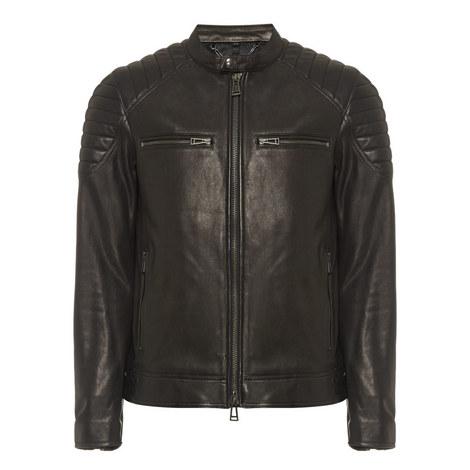 Stoneham Short Leather Jacket, ${color}