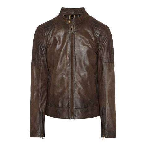 Slipway Leather Zip-Through Jacket, ${color}
