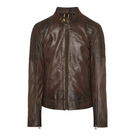 Slipway Leather Zip-Through Jacket, ${color}