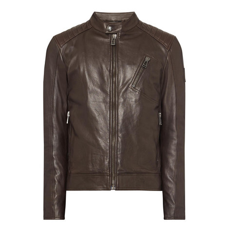 V Racer Leather Jacket, ${color}