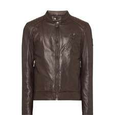V Racer Leather Jacket