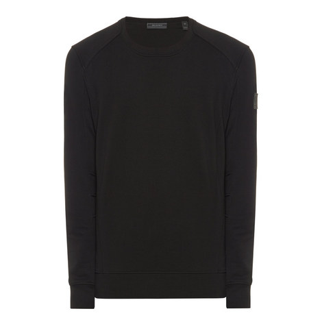 Crew Neck Panelled Sweater, ${color}