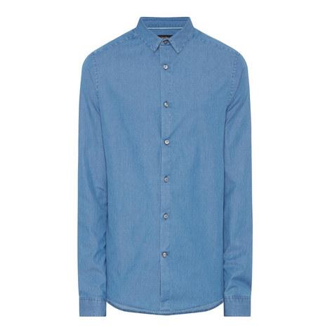 Bleached Denim Shirt, ${color}