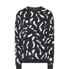 Kalmer Print Crew Neck Sweatshirt