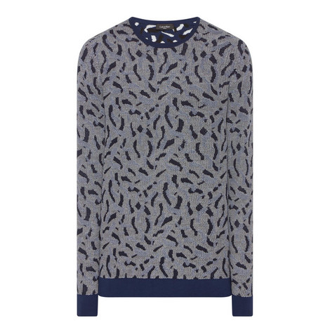 Jacquard Crew Neck Sweater, ${color}