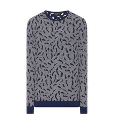 Jacquard Crew Neck Sweater