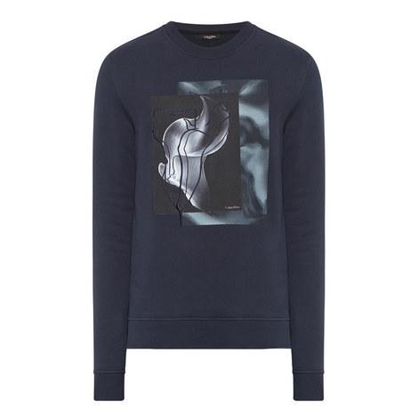 Flower Print Sweatshirt, ${color}