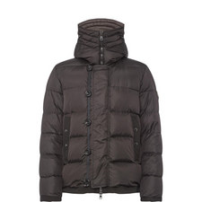 Pyrenees Shearling Trim Hooded Jacket