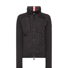 Quilted-Front Hybrid Jacket