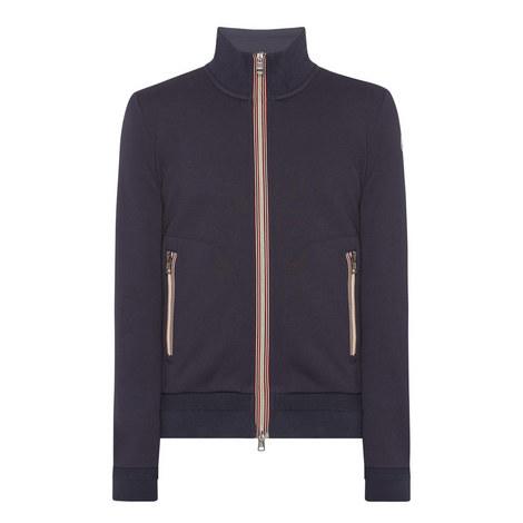 Zip-Up Stripe Sweatshirt, ${color}
