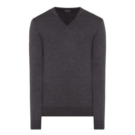 V-Neck Wool Sweater, ${color}