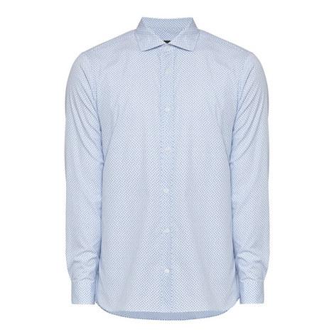 Print Long Sleeve Shirt, ${color}