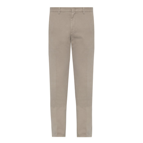 Straight Fit Twill Trousers, ${color}