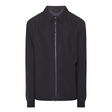 Simple Zipped Raincoat, ${color}