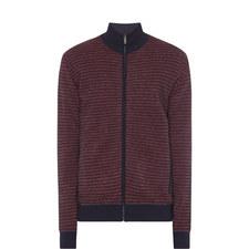 Gingham Zip-Through Sweater