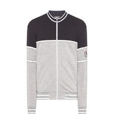 Two-Tone Zip-Thorugh Sweatshirt