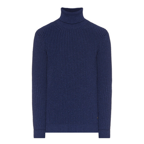 Knitted Roll Neck Wool Sweater, ${color}