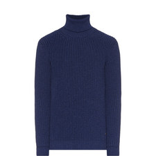 Knitted Roll Neck Wool Sweater