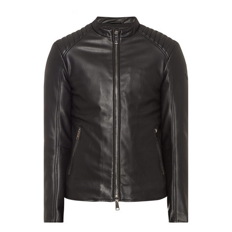 Faux Leather Biker Jacket, ${color}