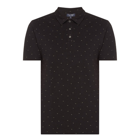Logo Print Piqué Polo Shirt, ${color}