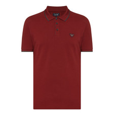Stripe Tipped Piqué Polo Shirt