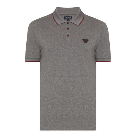 Stripe Tipped Piqué Polo Shirt, ${color}