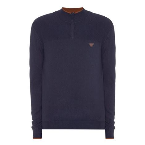 Half Zip Wool Sweater, ${color}