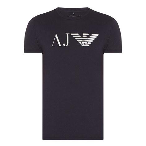 Logo Print Crew Neck T-shirt, ${color}
